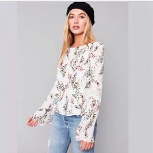 Stone Cold Fox Floral Silk Open Back Top